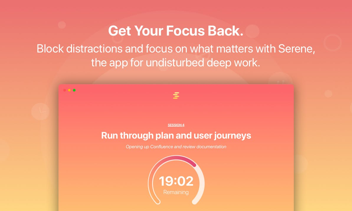 Serene: The App to Get Your Focus Back