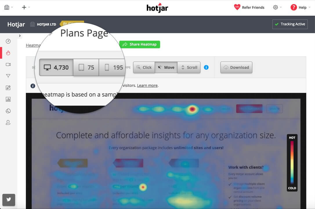 Hotjar: Get Heatmaps and Detailed Insights Into Your Website Visitors