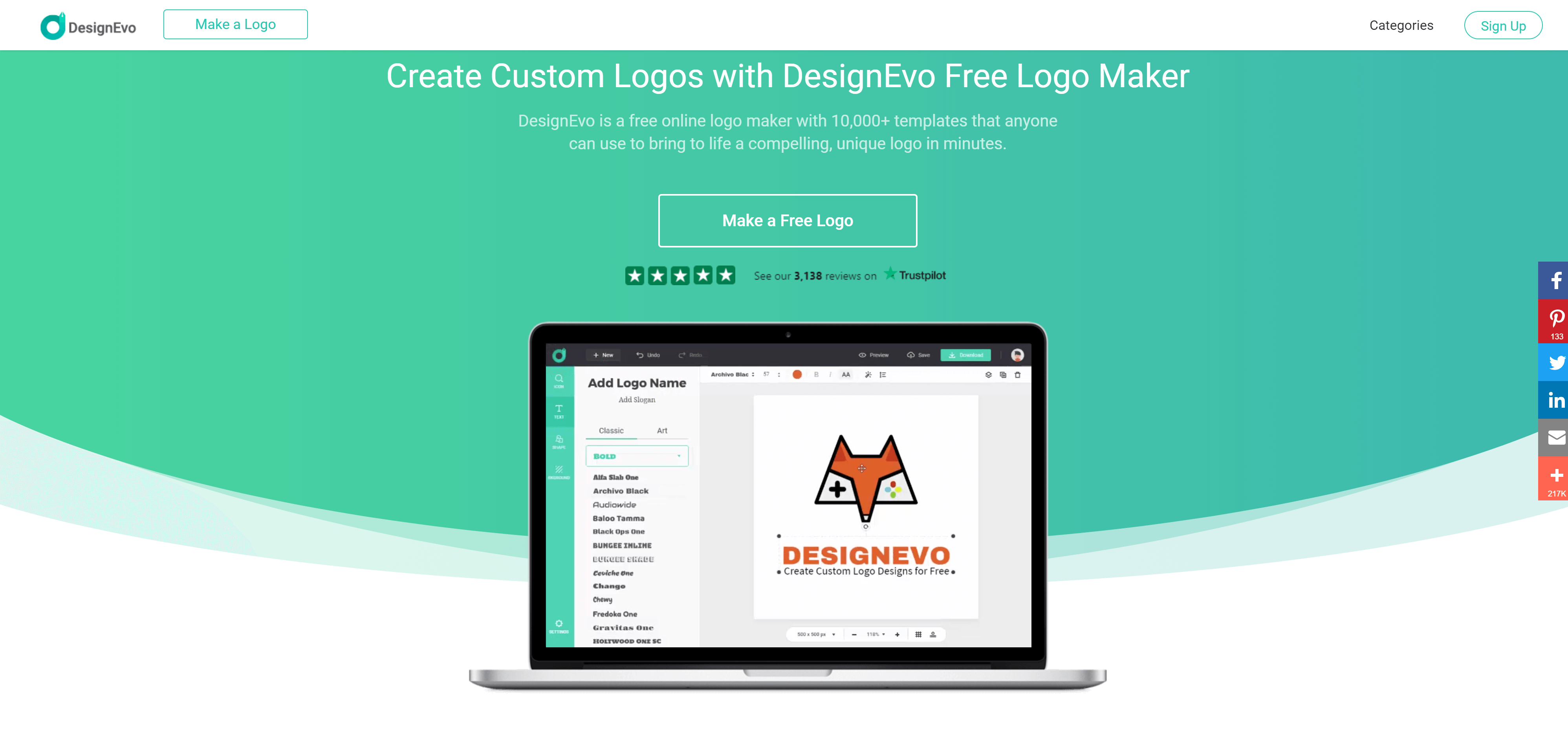 DesignEvo: Easily Create Custom Logos