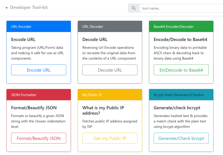 Developer Tool-kit: Get All the Essential Dev Tools in One Place