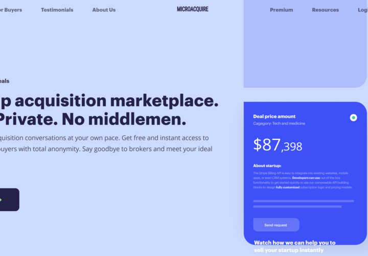 MicroAcquire: Buy and sell startups with this startup acquisition marketplace