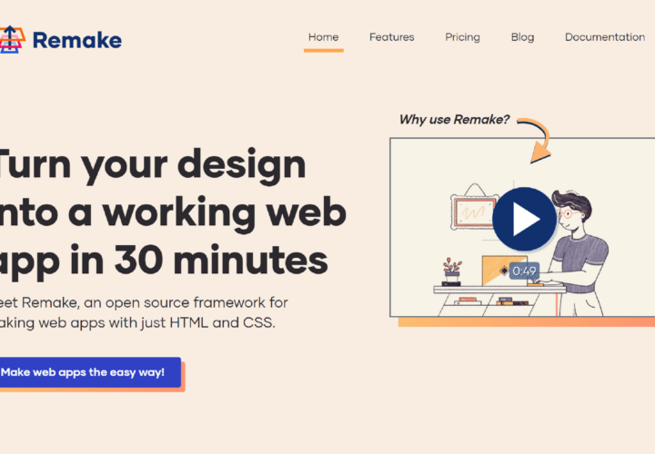 Remake 2.0: Make Web Apps With Just HTML and CSS