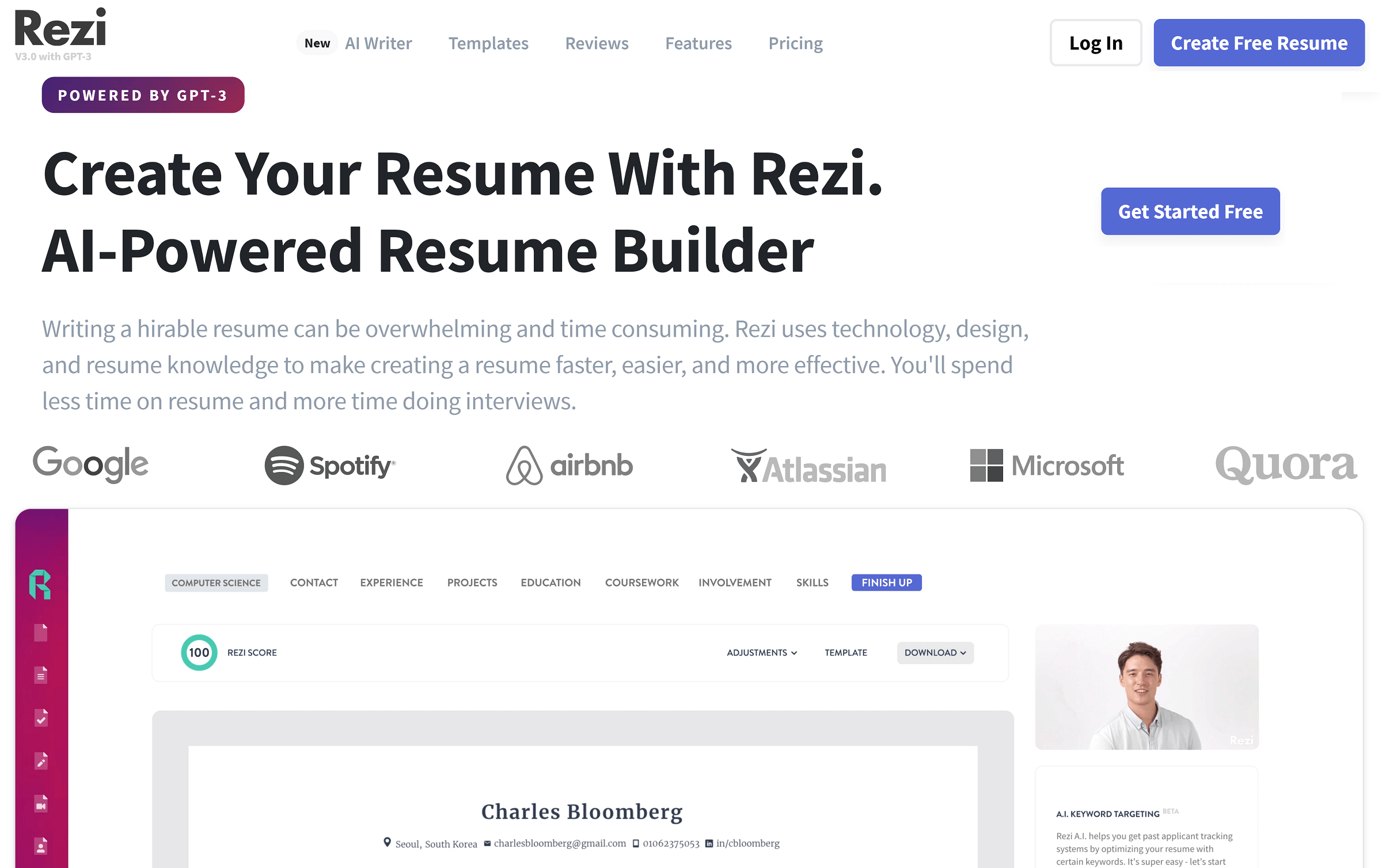 Rezi 3.0: Use the Power of AI to Build a Résumé With GPT-3