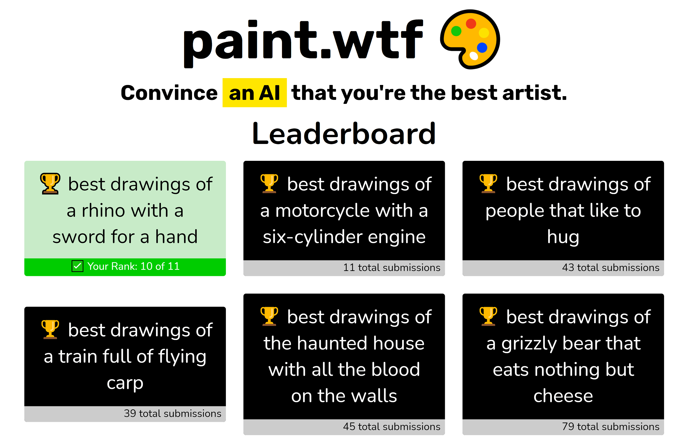 paint.wtf: A Drawing Game With an AI Judge